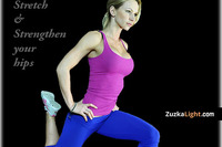 Thumb hip flexor stretching post zuzka light